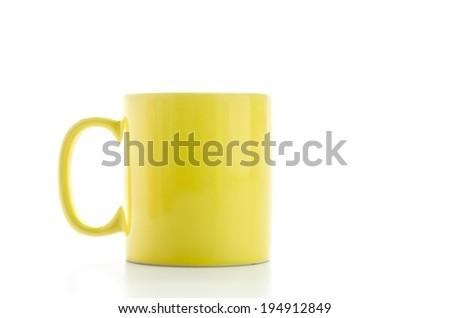 Color mug isolated on white - stock photo