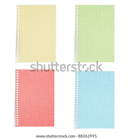 Color Mulberry paper isolated - stock photo