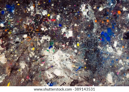 Color multicolored stained pavement.background. - stock photo