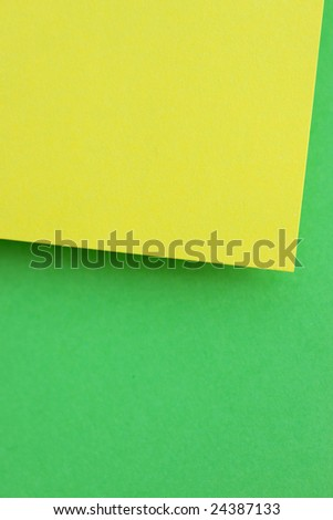 Color note papers for background