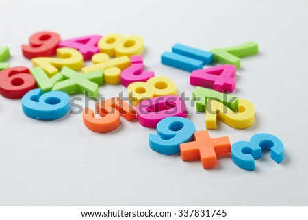 color numbers - stock photo
