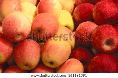 color of apples - stock photo