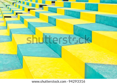 Color of the seat outdoor amphitheater. - stock photo