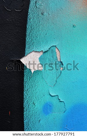 color on grunge wall