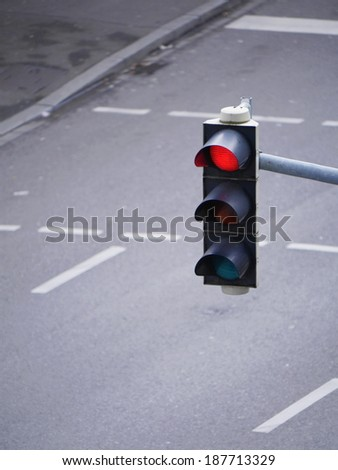 color on the traffic light. - stock photo