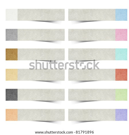color pad recycled paper stick on white background - stock photo