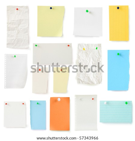 color pages collection isolated on white