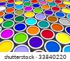 Color paint cans - stock photo