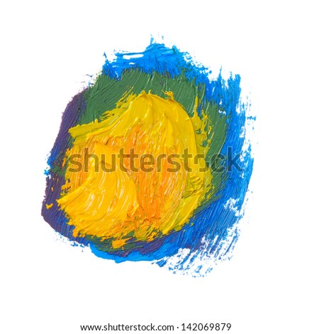 color paints isolated on white background - stock photo