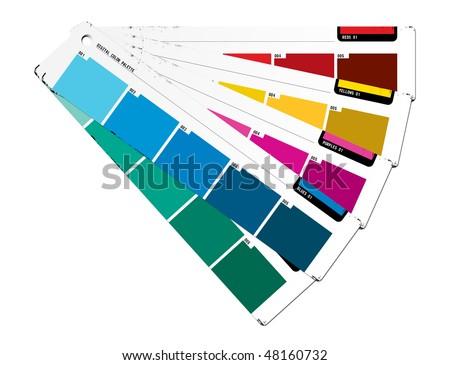 Color palette blue - stock photo