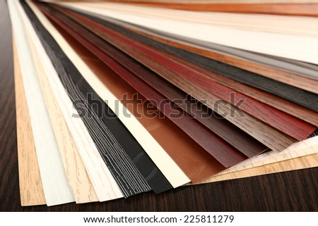 Color palette for furniture on table close-up - stock photo