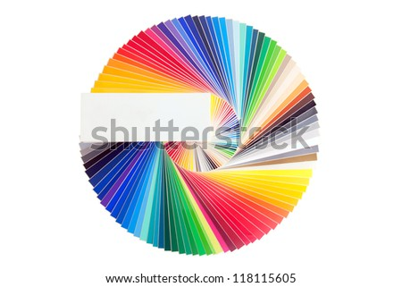 Color palette guide, isolated on white background - stock photo