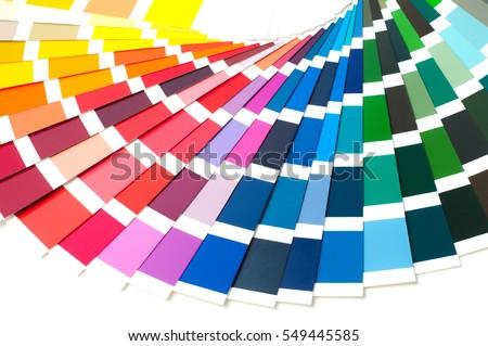 color palette guide paint samples catalog stock photo 549445585
