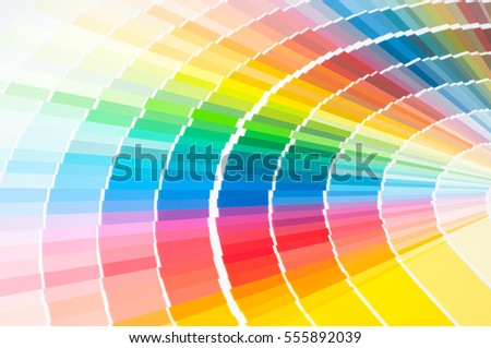 color palette guide paint samples colored stock photo 555987262