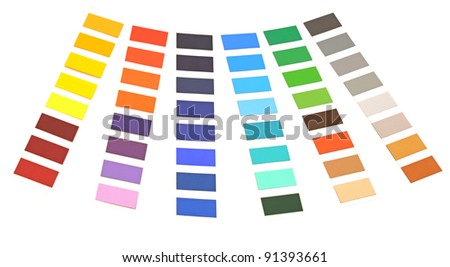 color palette on white background - stock photo