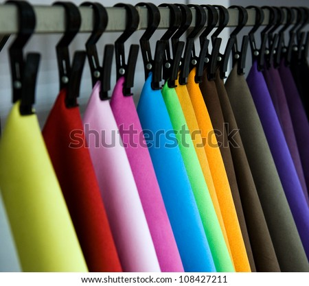 Color palette sample picker of leather material. - stock photo