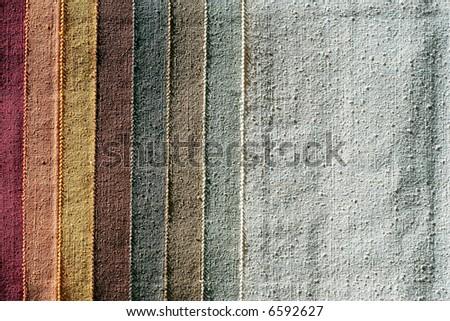 Color palette sample picker of texture fabrics - stock photo