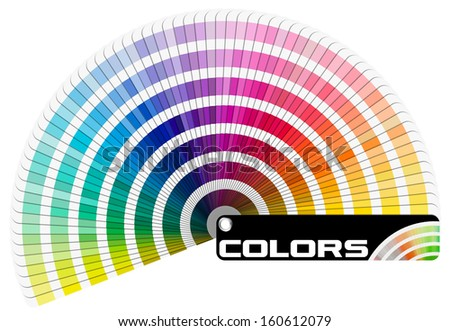 Color Palette - Semicircle - Color palette guide isolated on white background - Semicircle - stock photo