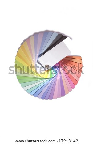 color palette with lots of colors in a white background