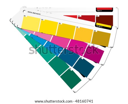 Color palette yellow - stock photo