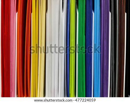 Color paper at book store