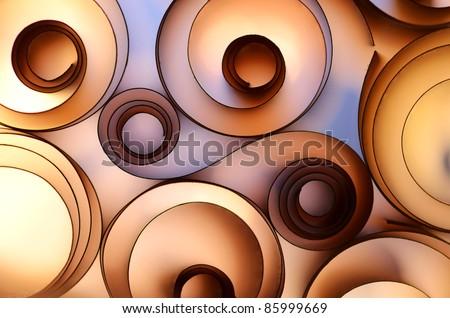 color paper decoration - stock photo