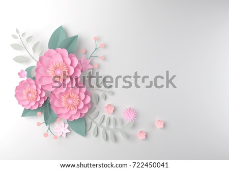 Color paper flower wallpaper background abstract stock illustration color paper flower wallpaper background abstract floral background design for wedding and greeting card mightylinksfo