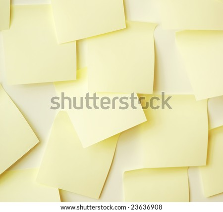 Color paper of notes on a white background - stock photo