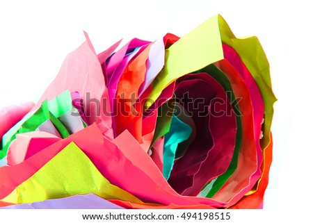 color paper roll as very nice rainbow background