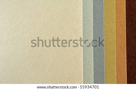 Color paper samples in various colors as background with room for text