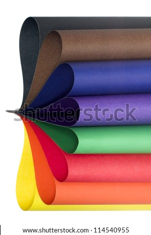 Color paper variety - stock photo