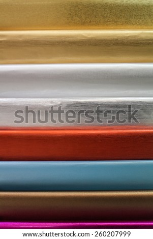 Color papers for wrapping gifts - stock photo