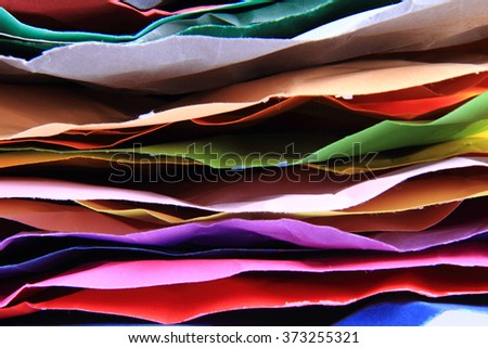 color papers stack as very nice color background - stock photo