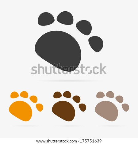 color paw symbol icons