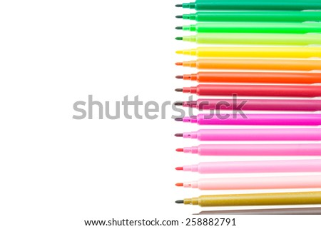 Color pen isolated on white background - stock photo