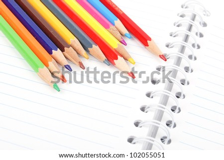 Color pencil and notepad