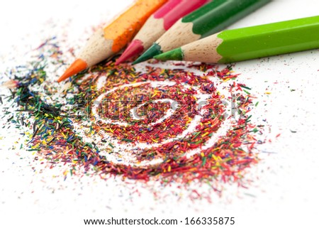 Color pencil graphite and pencils.  - stock photo