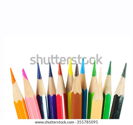 color pencil isolated