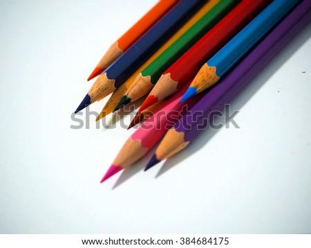 color pencils - stock photo