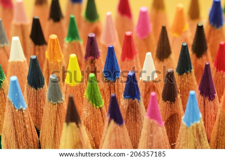 color pencils as background  - stock photo