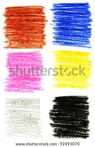 Color pencils background set - stock photo