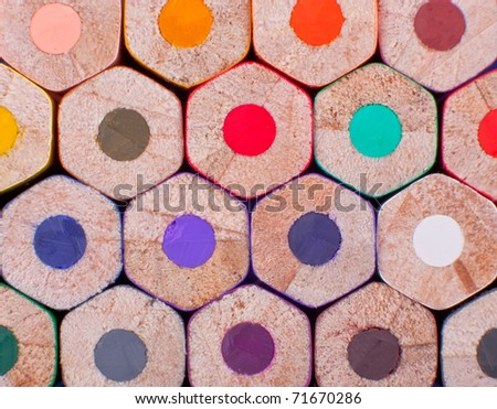Color pencils. Texture or background. - stock photo
