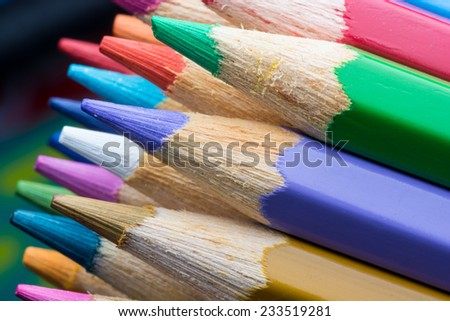 Color Pencils with colorful background