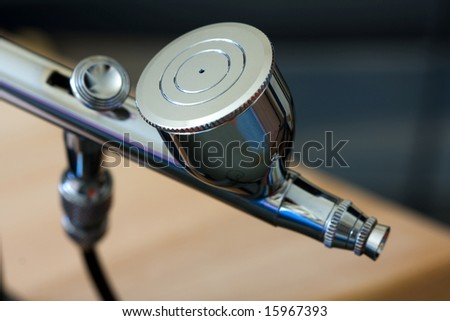 Color photo of a airbrush - stock photo