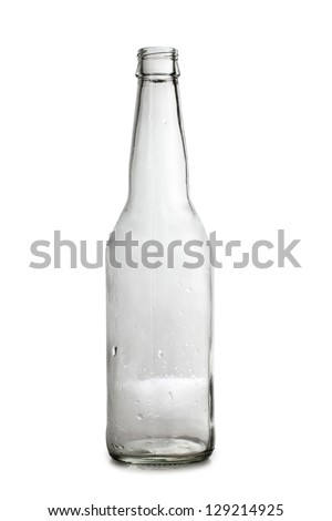 Color photo of a empty bottle of beer - stock photo