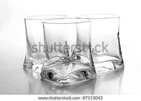 Color photo of a empty glass of whiskey - stock photo