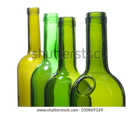 Color photo of a glass bottles wine