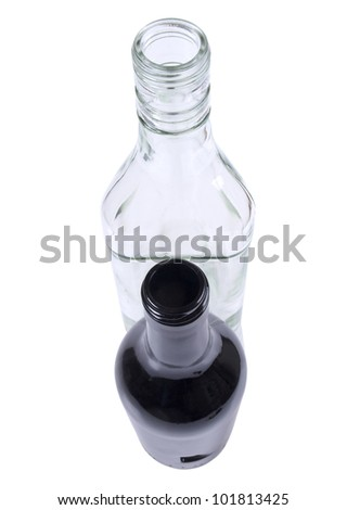 Color photo of a glass cup with cocktail - stock photo