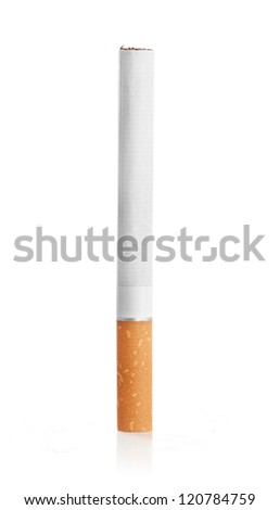 Color photo of filter cigarettes isolated background - stock photo