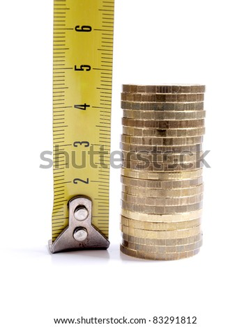 Color photograph of gold coins stack